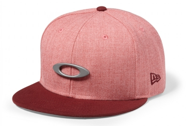 casquette oakley o justable metal snapback rouge