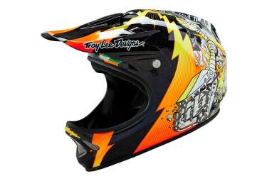 casque integral troy lee designs d2 invade orange