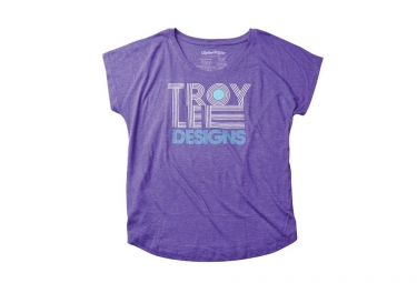 t shirt femme troy lee designs linear dolman violet