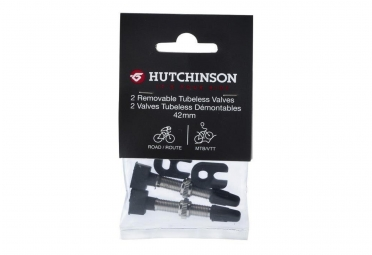 paire de valves hutchinson ad60207 tubeless 42mm