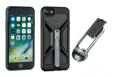 support et coque de protection topeak ridecase pour iphone 6 6s 7 noir