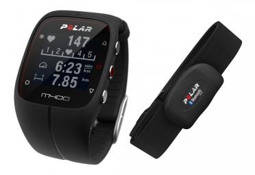 produit reconditionne polar montre m400 gps hr avec ceinture cardiaque noir