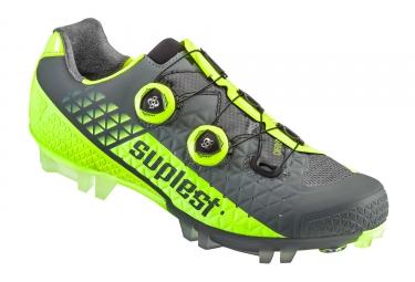 chaussures vtt suplest edge 3 pro jaune fluo gris