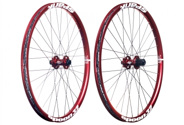 paire de roues spank spoon 32 26 axes 20x110 12x150mm shimano sram rouge
