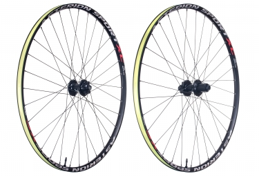 paire de roues asterion sport xc 29 alu 15x100 12x142mm corps shimano sram tl ready