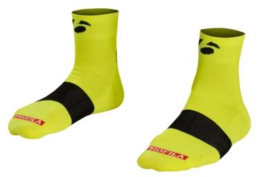 chaussettes bontrager race 6cm jaune