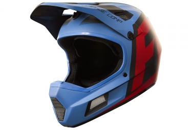 casque integral fox rampage comp creo bleu rouge