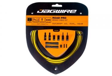 kit cable et gaine pour frein route jagwire road pro jaune