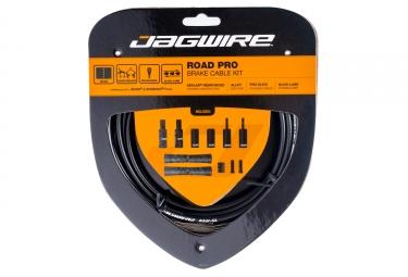 kit cable et gaine pour frein route jagwire road pro noir