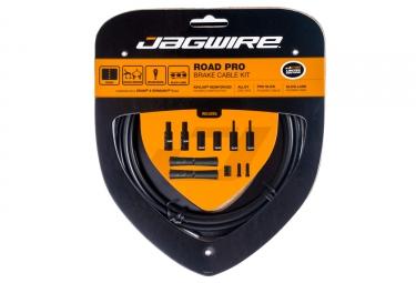 kit cable et gaine pour frein route jagwire road pro noir mate