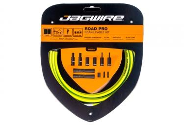 kit cable et gaine pour frein route jagwire road pro vert