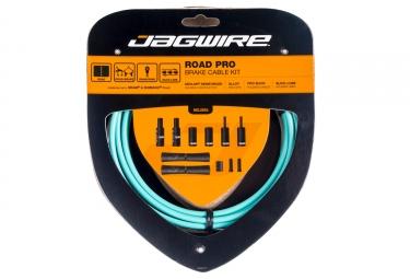 kit cable et gaine pour frein route jagwire road pro celeste