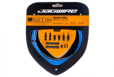 kit cable et gaine pour frein route jagwire road pro bleu