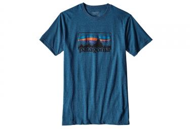 t shirt patagonia 73 logo bleu