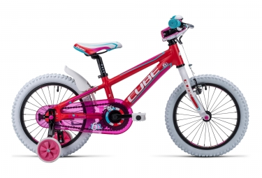 velo enfant cube 2016 kid 160 16 rouge rose