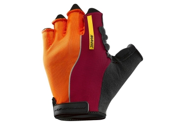 mavic paire de gants ksyrium pro orange rouge