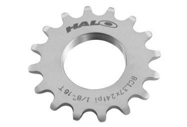 halo pignon track 1 2 x 1 8 chrome