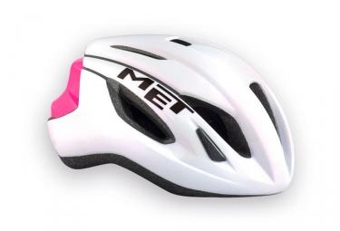 casque met strale blanc rose