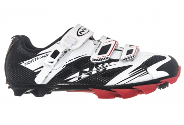 chaussures vtt northwave scorpius 2 srs noir blanc rouge