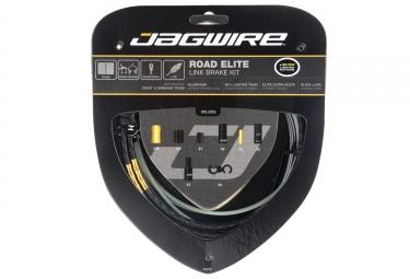 kit cable et gaine route jagwire road elite link pour frein limited edition noir