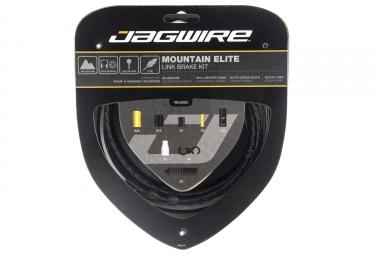 kit cable et gaine vtt jagwire mountain elite link pour frein noir