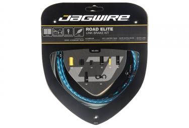 kit cable et gaine route jagwire road elite link pour frein bleu