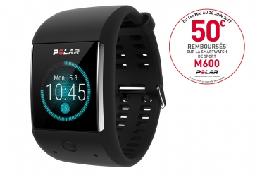 montre de sport connecte polar m600 noir