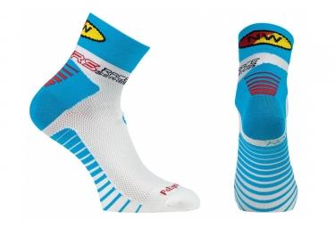 paire de chaussettes northwave speed bleu blanc
