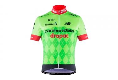 maillot manches courtes poc 2017 cannondale drapac pro team vert