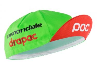 casquette poc 2017 cannondale drapac pro team vert rouge taille unique