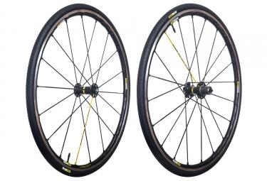 paire de roues mavic 2017 ksyrium pro sl sram shimano yksion pro 25mm