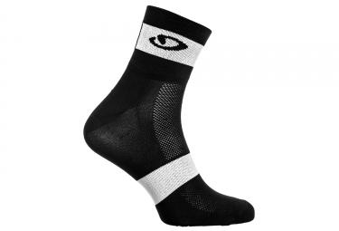 paire de chaussette giro comp racer noir blanc 7 5cm