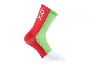 paire de chaussettes poc 2017 cannondale drapac pro team vert rouge