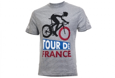 le tour de france t shirt graphic vintage tdf grey