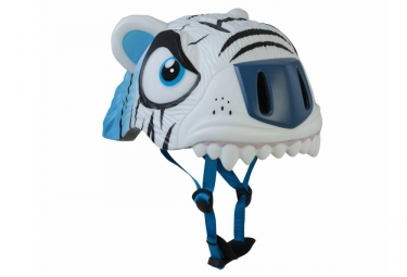 casque enfant crazy safety white tiger 3 a 6 ans blanc