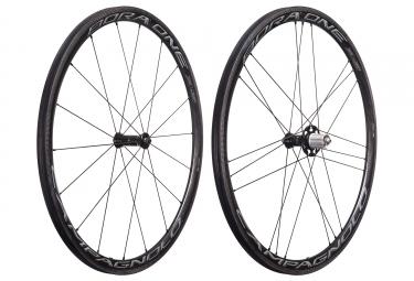 paire de roues campagnolo bora one 35 dark 2018 a boyaux shimano sram 11v