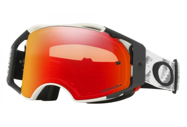 masque oakley airbrake mx blanc mate prizm mx torch oo7046 57