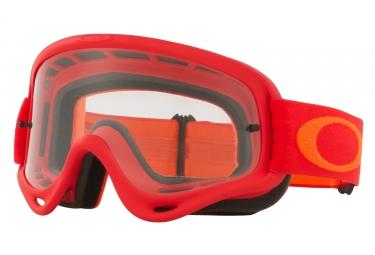 masque oakley o frame mx rouge orange transparent oo7029 37