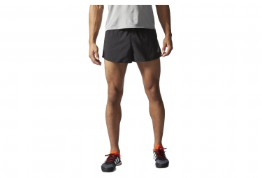 adidas short homme run split noir