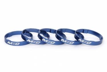 entretoises de direction msc tetra 5x 5mm aluminium bleu