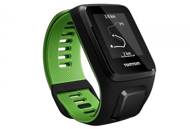 montre gps tomtom runner 3 cardio music bracelet large noir vert