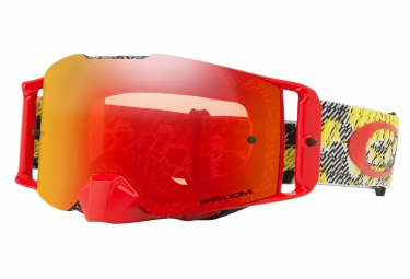 masque oakley front line mx dazzle dyno jaune rouge prizm mx rouge oo7087 15