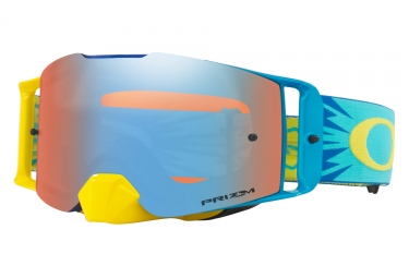 masque oakley front line mx high voltage jaune bleu prizm mx bleu oo7087 17