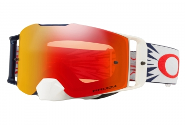 masque oakley front line mx high voltage blanc prizm mx rouge oo7087 18