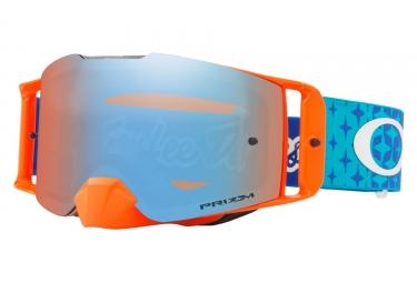 masque oakley front line mx tld stardust orange bleu prizm mx bleu oo7087 22