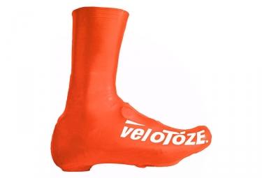 velotoze couvres chaussures haut t vor 007 latex orange