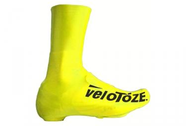 velotoze couvres chaussures haut t dgy 006 latex jaune