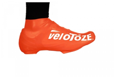 velotoze couvres chaussures bas s vor 007 latex orange