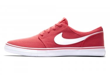 chaussures nike sb solarsoft portmore ii canvas rouge blanc
