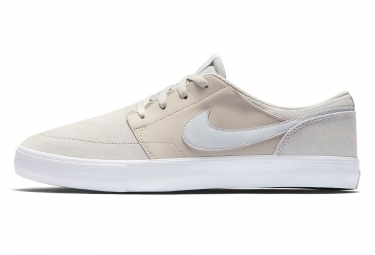 chaussures nike sb solarsoft portmore ii beige blanc